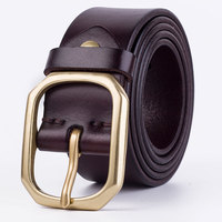 Double G Top High Quality Brand Designer 100 Cowhide Genuine Leather Men S Belt Pin Buckle