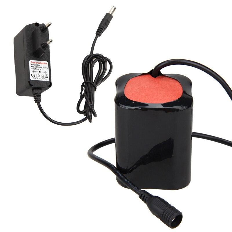 20000mAh 8.4V Battery Pack For XM-L T6 LED Bike Bicycle Light Head Torch Lamp