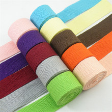 New Colourful 20mm Chevron 100% Cotton Ribbon Webbing Herring Bonebinding Tape Lace Trimming for Packing Accessories DIY 3yards