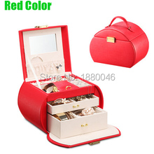 Brand New 16.5*23*16CM Europe type princess jewelry box with lock jewelry necklace earrings high-end European retro Princess box