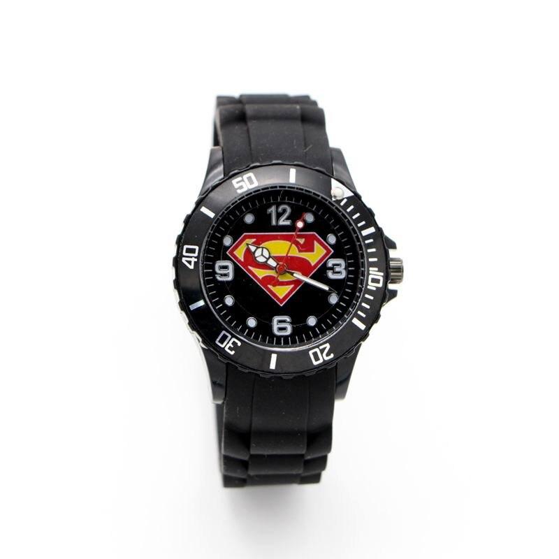 New Arrival Superman Super Man Silicone Watch Quartz Kids Sports Cartoon Watch Wristwatch Boy Students Christmas Relogio
