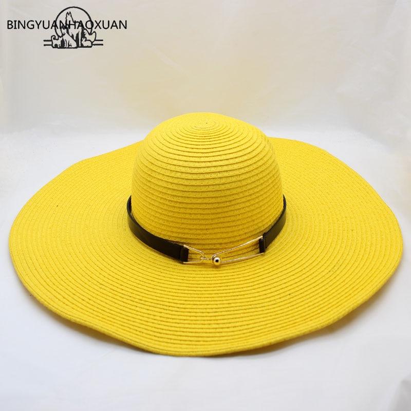 BINGYUANHAOXUAN For Women Summer Sun Hat Unisex Panama Hat 2018 New Arrival Fashion Straw Beach Cap