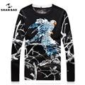 SHAN BAO de ocio de lujo de punto personalidad águila hombres de la marca de alta calidad de diseño de cuello redondo de cultiva su moralidad suéter