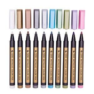 1 шт. цветные хайлайтеры водонепроницаемые перманентные металлические маркеры ручки для белого картона крафт-бумаги фотоальбомы Diy украшения