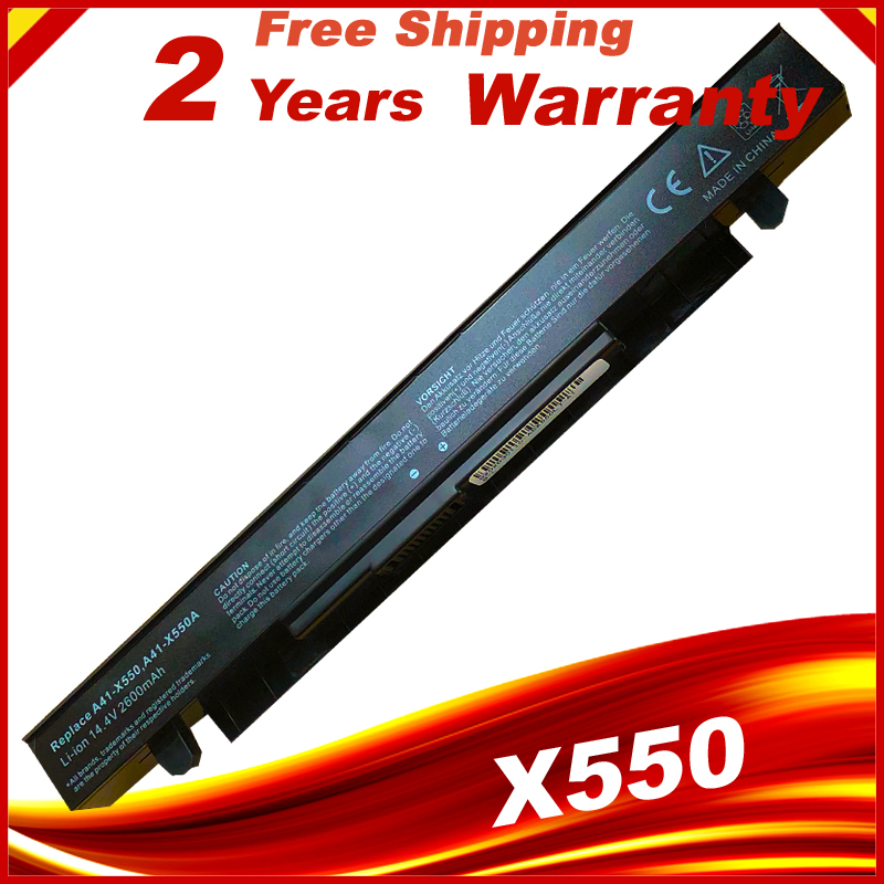 2600mAh Laptop Battery For ASUS A41-X550 A41-X550A X450 X550 X550C X550B X550V X550D X450C X550CA 4CELL