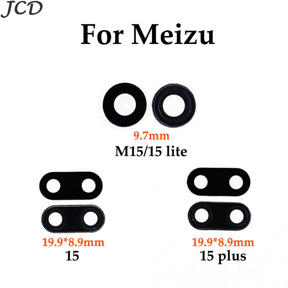 JCD 2x For Meizu 15 Plus 15Plus Glass Rear Back Camera Glass Lens For MEIZU 15 Lite Plus M15 15th With Sticker