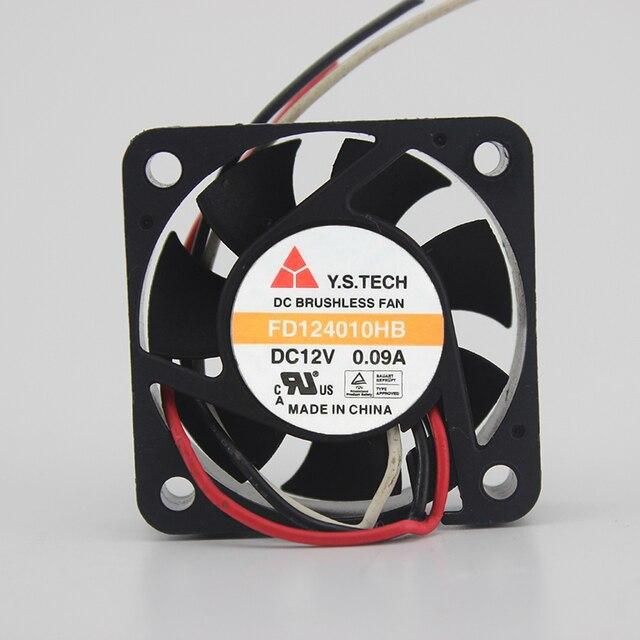FD124010HB 4010 12 V 0.09A 4 cm bola doble ventilador