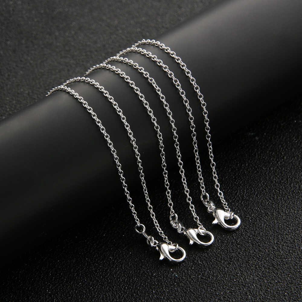 """1 Pcs elegante atacado sterling prata banhado a cor sólida 1 rolo seis milímetros """"O"""" 16 """"-- 24"""" cadeia colar de jóias"""