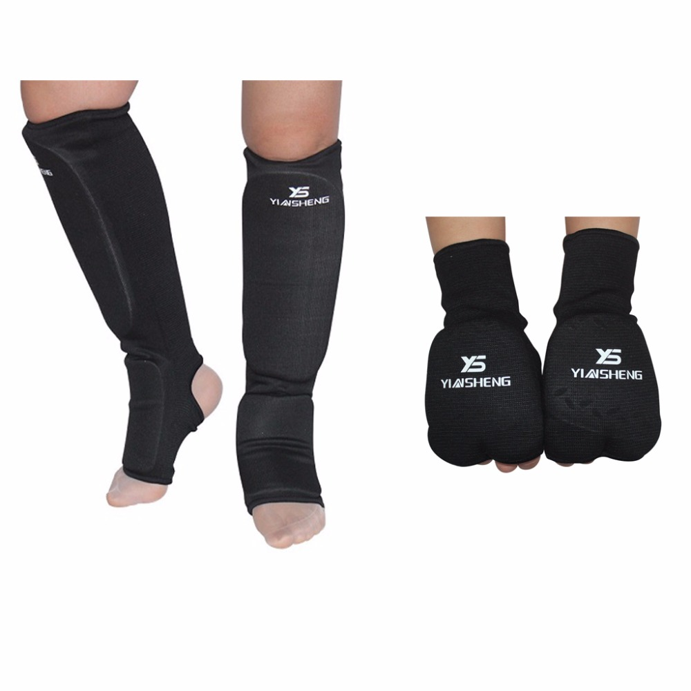 Shin Guards kick boxing protector Sanda taekwondo boxing Leggings Ankle palm protection karate MMA Muay thai shin pads Protector