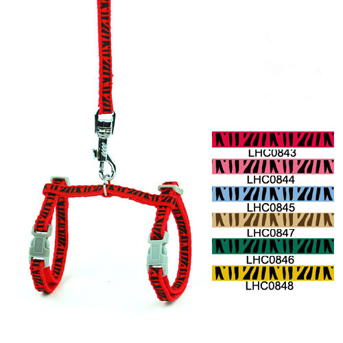 Snappy Zebra Print Harness for your Cat | Cat Harness