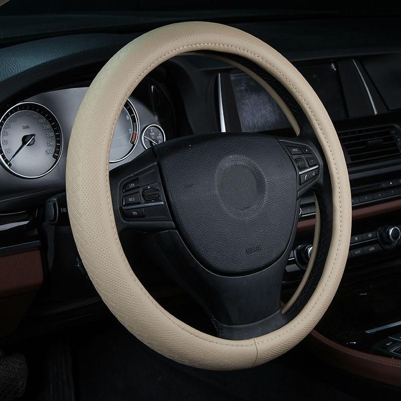 Fuso Truck Steering Wheel Covers Full Grain Genuine Cow Hide Leather