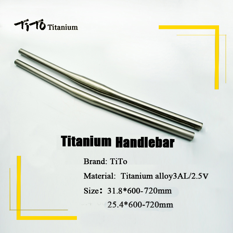 Livraison gratuite de VTT Titane vélo guidon plat guidon 31.8 ou 25.4*600/620/640/660/680/700/720mm custom design logo