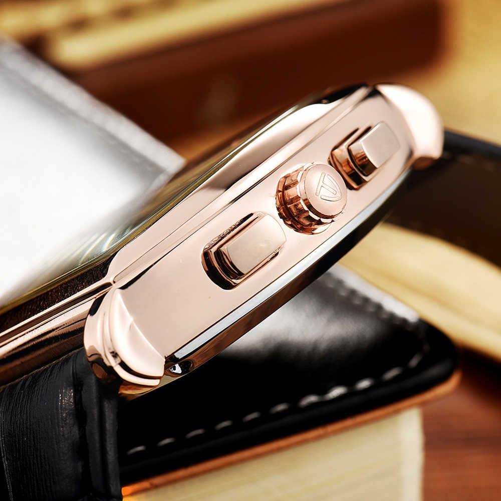 นาฬิกาผู้ชายกันน้ำนาฬิกาข้อมือชายอัตโนมัติTEVISEสแควร์นาฬิกาRelogio Automatico Masculinoของขวัญกล่อง