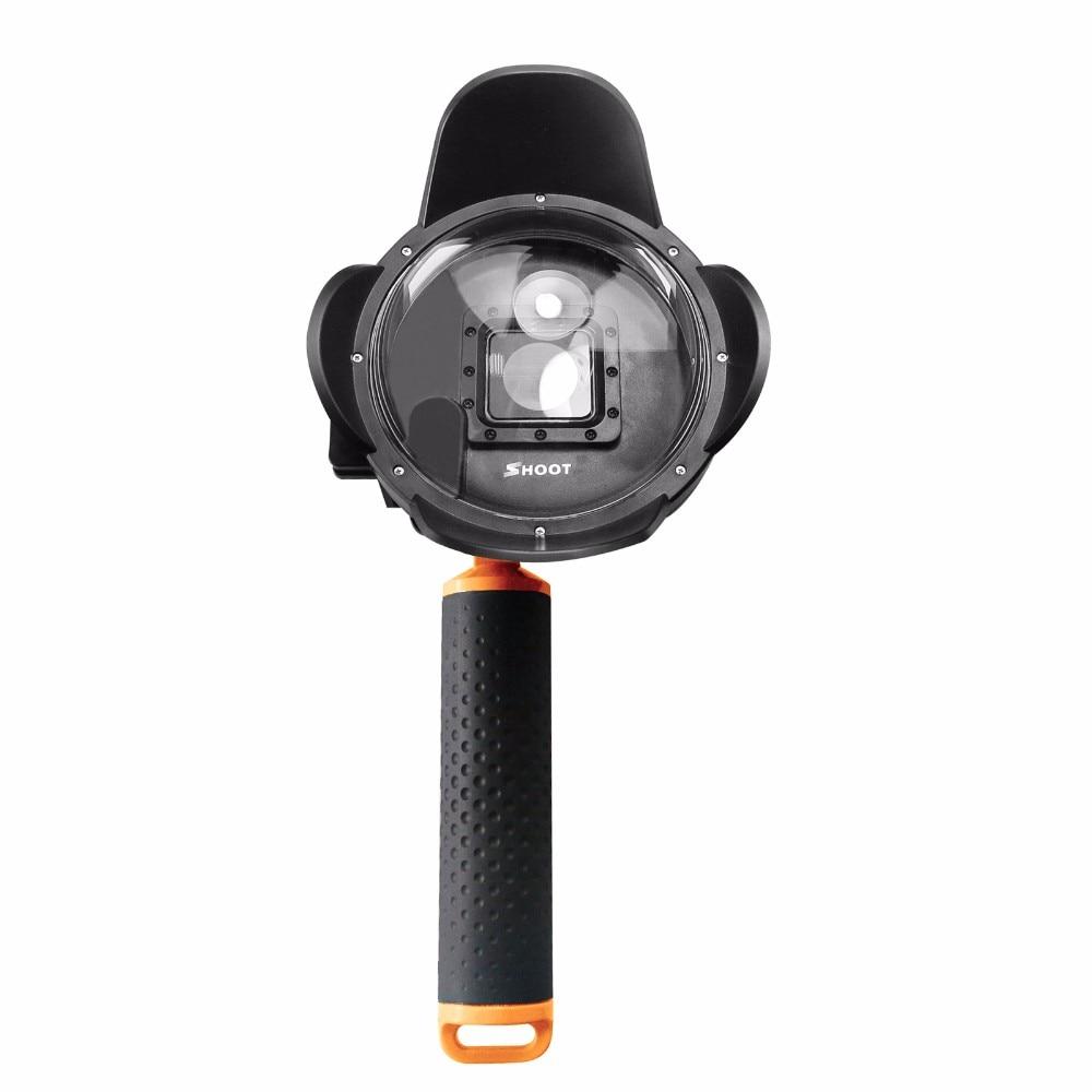 SHOOT 4 pouces parasol plongée dôme Port pour Gopro Hero 4 3 + caméra avec flotteur Bobber boîtier étanche Go pro accessoires