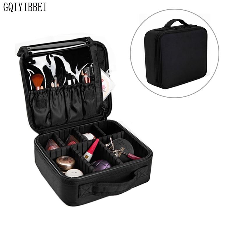 gqiyibbei multilayer detachable zip lock waterproof oxford makeup organizer storage box. Black Bedroom Furniture Sets. Home Design Ideas