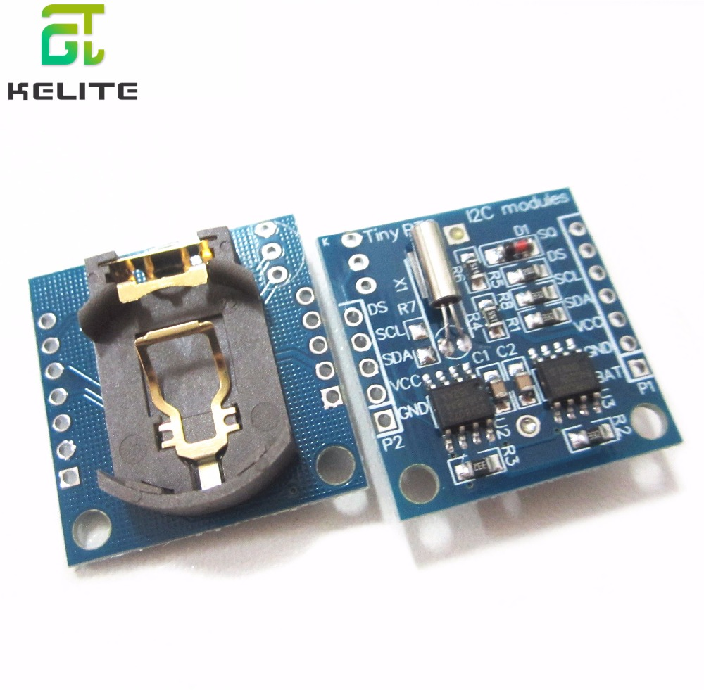 HAILANGNIAO Tiny RTC I2C Modules 24C32 Memory DS1307 Clock RTC Module (without Battery)