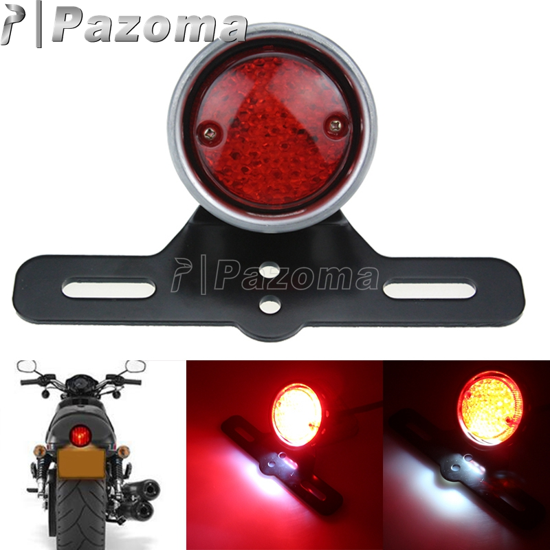 Motorcycle Rear Red Tail Brake Stop Light For Harley Chopper Bobber Cafe Racer