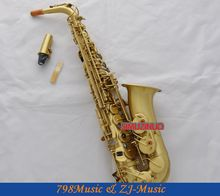 Newest Professional Matt Brass Alto Sax Saxophone High F# saxofon With Case