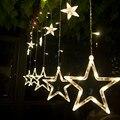 Cortina de Luz de Navidad 2 M * 0.6 M 138 Led String Luz de Navidad Guirnalda De La Boda Cortina de Cuerda Lámparas Al Aire Libre 4 colores VES12 T16 0.4