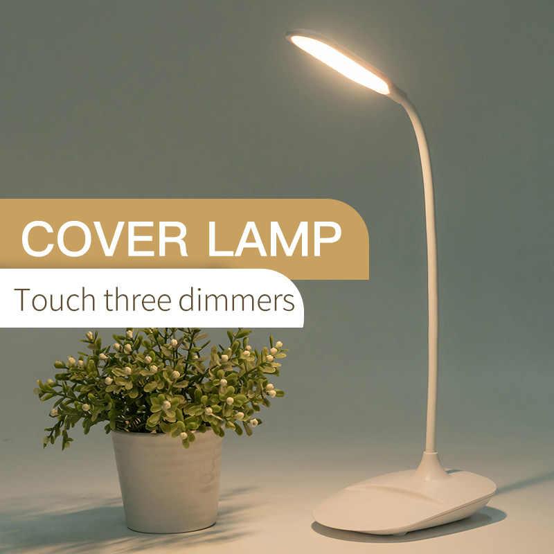 Lampe d'étude de LED 360 ° contrôle de capteur tactile Flexible USB Rechargeable Type prise lampe de Table