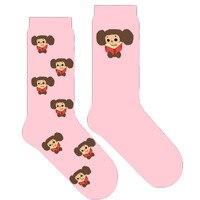 Cheburashka мультфильм носки обезьянка женские розовые милые носки 10 пар/Лот