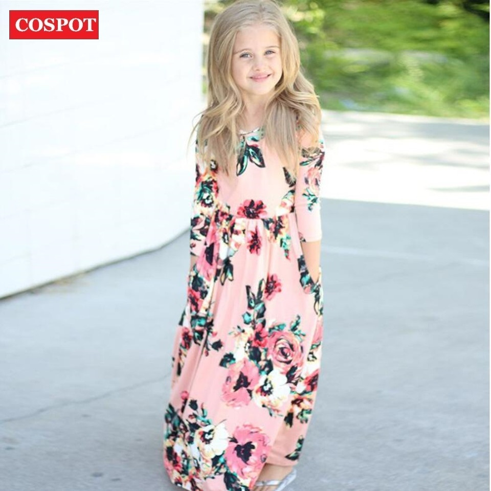 COSPOT Baby Mädchen Bademode Lange Kleider Mädchen Bohemian Fashion ...