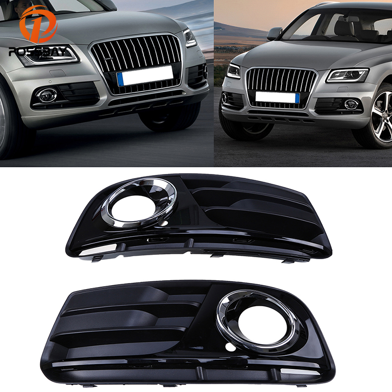NEW Front Lower Fog Light Lamp Cover Grille Grill ALL Black For AUDI Q5 13-17