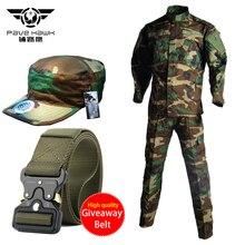 Military Work Wear Uniforms Men's Sets Jacket Cap Army Pants Tactical Jackets Suit Training Clothes Men Pant Summer Trousers