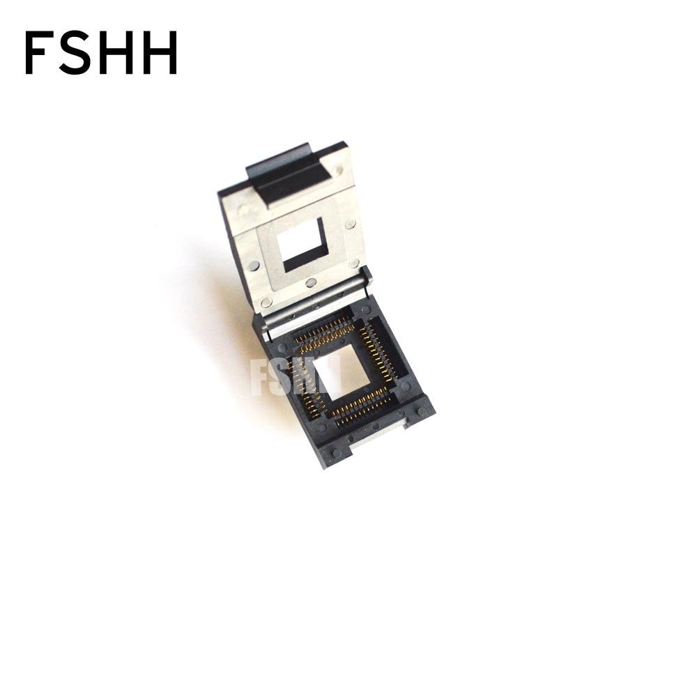 FSHH QFN52 WSON52 UDFN52 MLF52 ic test socket Size=20mmx20mm Pin pitch=1.27mm fshh qfn18 to dip18 programmer adapter wson18 udfn18 mlf18 ic test socket size 3 6mmx3 6mm pin pitch 0 5mm