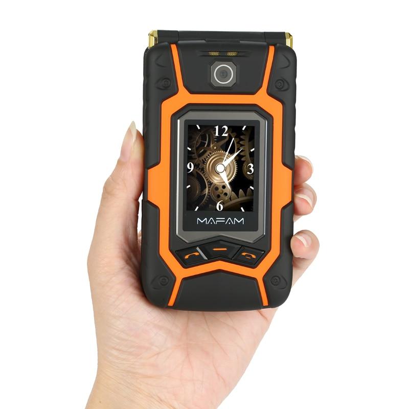 Mampa Flip Cell X9 double écran double SIM réponse d'appel à une touche longue veille écran tactile robuste téléphone Mobile Senior P008 - 2