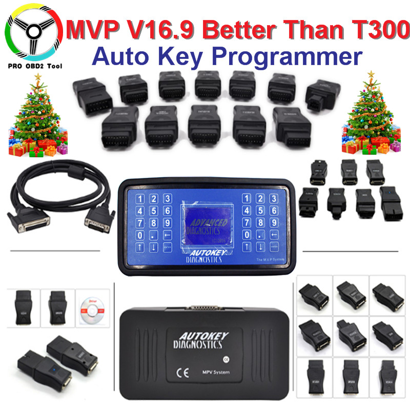 Latest V16.9 MVP Key Programmer Support English/Spanish MVP Pro Key Decoder Update of AD100 Code Reader For Multi Cars DHL Free