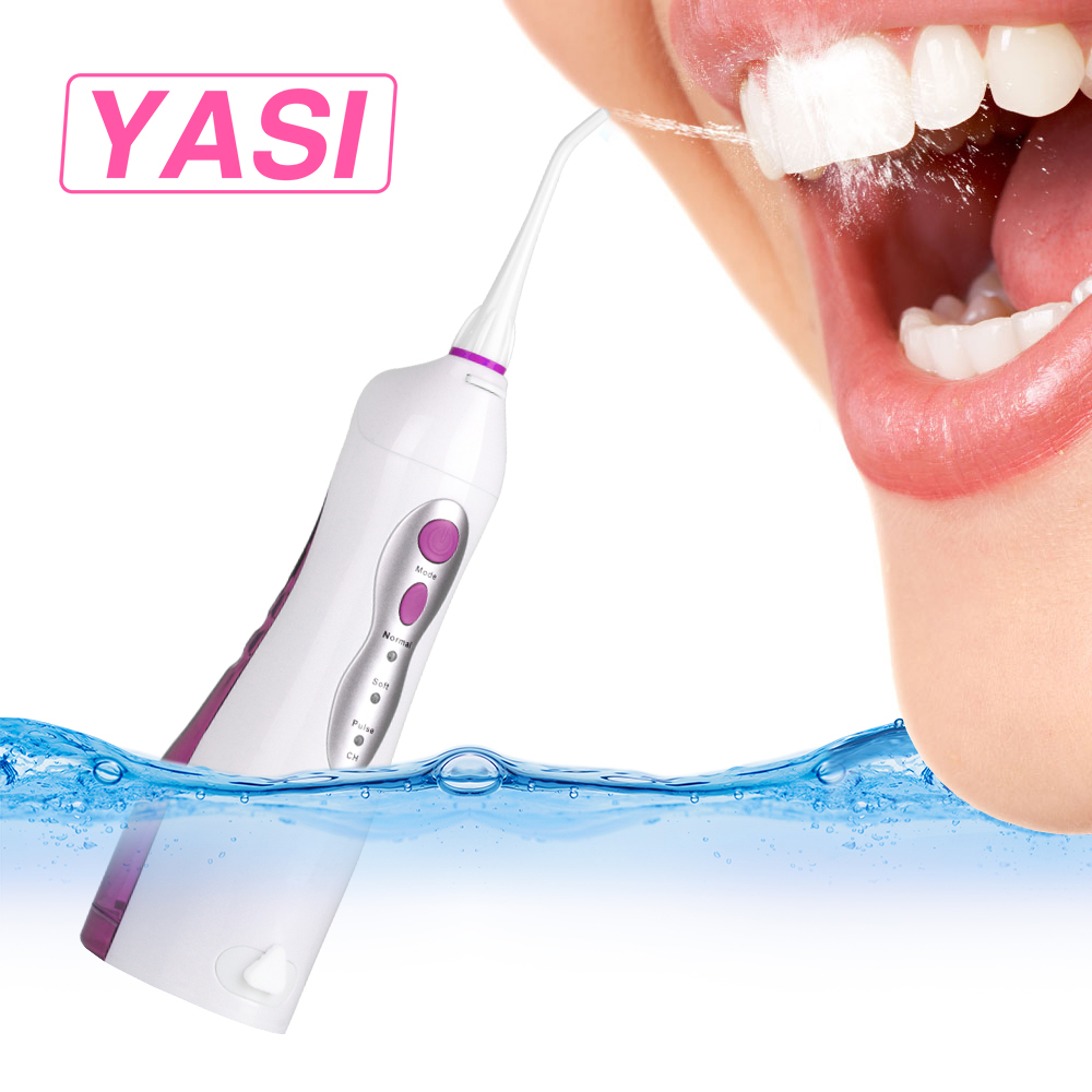 YASI FL-V8 Electric USB Rechargeable Portable Oral Irrigator/Oral Flosser Waterpick Dental Flosser Irrigator Water Dental Floss yasi v8 rechargeable electric oral irrigator water toothpick teeth whitening water flosser dental tooth cleaning tool eu plug