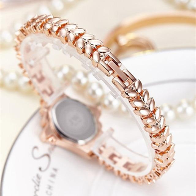 Bracelet Luxury Rhinestone Gold Watch 5