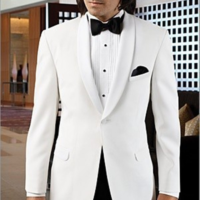 2017 New Fashion White Groom Suit Wedding Tuxedos Formal Dress ...