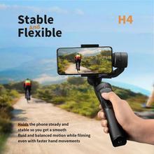 Uchwyt na zewnątrz 3 Axis elastyczne H4 ręczny stabilizator Gimbal dla iPhone 11 9 8 Huawei Samsung inteligentny telefon PTZ kamera akcji