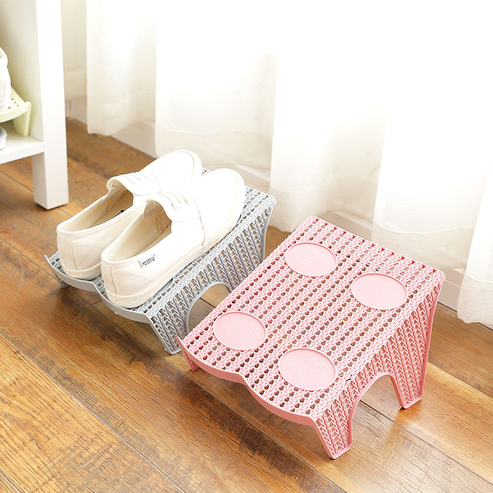 Double Layer Shoes Rack In Plastic 8