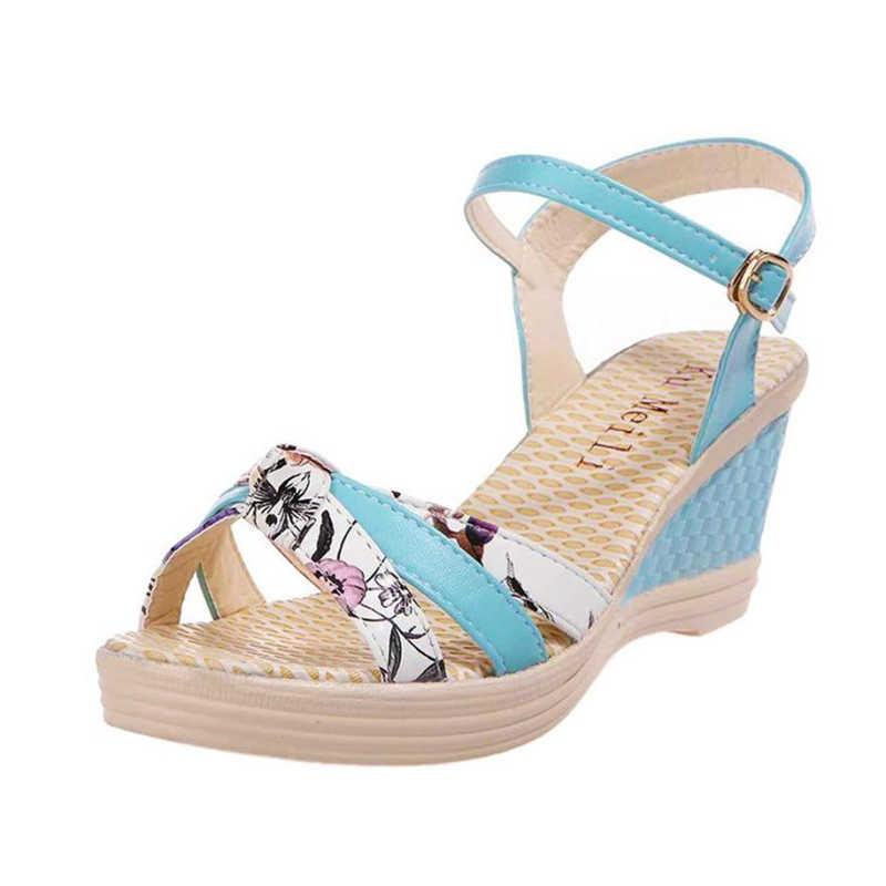 חדש 2018 גבירותיי נשים טריזי נעלי קיץ סנדלי פלטפורמת הבוהן נעליים עקב A0530 #30