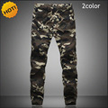High Quality 2016 Outdoors Casual Camouflage Cotton Elastic Waist Drastring Cargo Harem Pants Men Camo Beam Plus Size 5XL