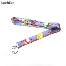 Patchfan cartoon game Super Mario lanyards neck straps for phones keys bead id card holders keychain webbing A0344