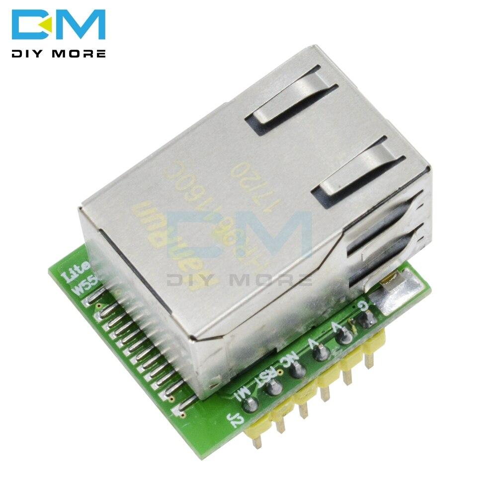 W5500 ENC28J60 USR-ES1 puce nouveau SPI vers LAN/Ethernet convertisseur tcp/ip Mod Module SPI Interface carte verteW5500 ENC28J60 USR-ES1 puce nouveau SPI vers LAN/Ethernet convertisseur tcp/ip Mod Module SPI Interface carte verte