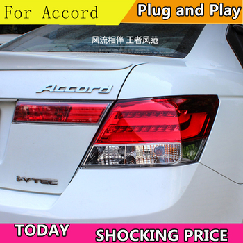 Car Styling for Accord Tail Lights 2008-2013 Accord8 LED Tail Light LED Rear Lamp LED DRL+Brake+Park+Signal
