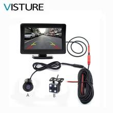 4.3 дюймов Авто заднего Парковка TFT Мониторы 4 светодиодных Ночное ВИДЕНИЕ CCD вид сзади Парковка Камера зеркало автомобиля Мониторы s 2 in1 PS43