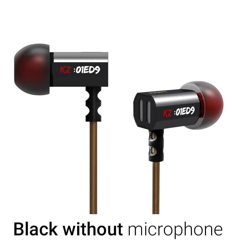 KZ ED9 Headphone Earphones Bowl Tuning Nozzles T Shaped Driver Monitoring In Ear HiFi Earphone With