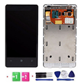 OEM High Quality 100% Test LCD Display Touch Screen Digitizer With Frame For Nokia Lumia 800 Black With Tools