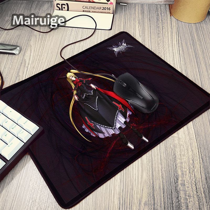 Mairuige Hot Japan Anime 2D Game BLAZBLUE Series Rachel Alucard Beauty Girl Mouse Pad Mini Pc Game Gaming Mousepad Mat for Gamer image