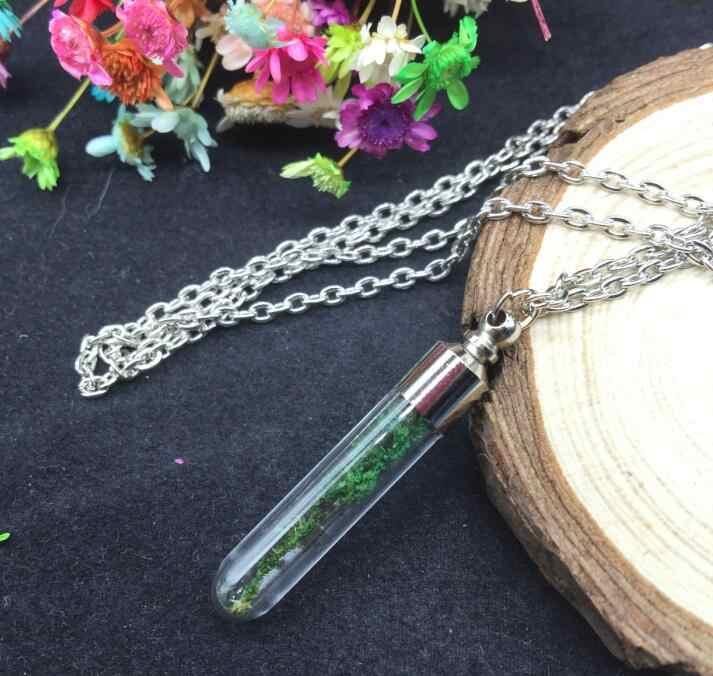 1 conjuntos de 70cm bracelete de corrente, bracelete de corrente longa banhado à mão, tampa de vidro, garrafa de desejo, minúsculo pingente de joias