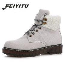 0014774257 Feiyitu Otoño Invierno mujeres botas nueva moda mujer botas de nieve para  las niñas señoras zapatos