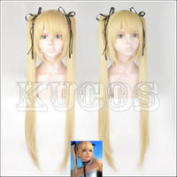 Dead Or Alive Marie Rose Blond Styled Cosplay Wig With Chip Ponytails+ Free Black Ribbon + Free Wig Cap