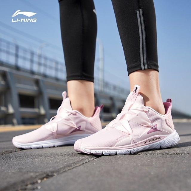Li-Ning/Женская тренировочная обувь JING HONG, легкая, свободная, гибкая подкладка, удобная дышащая Спортивная обувь AFHP014 YXX055