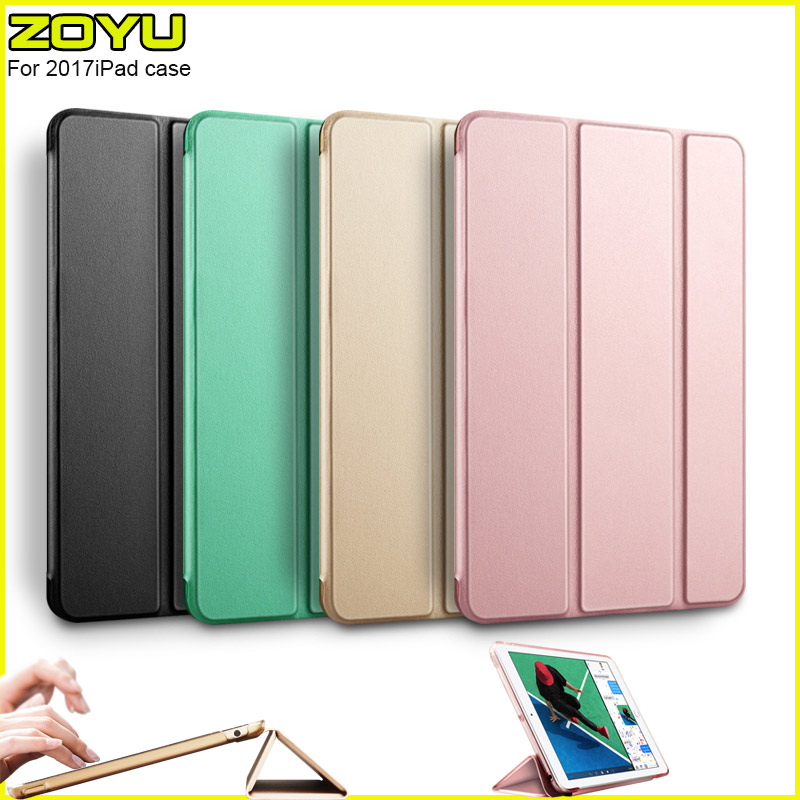 Case for iPad 9.7 inch 2017, ZOYU yue Color PU Leather+Ultra Slim Light Weight PC Back Cover Case for iPad 9.7 2017 New model back shell for new ipad 9 7 2017 genuine leather cover case for new ipad 9 7 inch a1822 a1823 ultra thin slim case protector